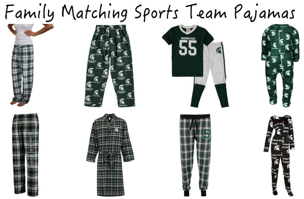 Family Matching Sports Team Pajamas