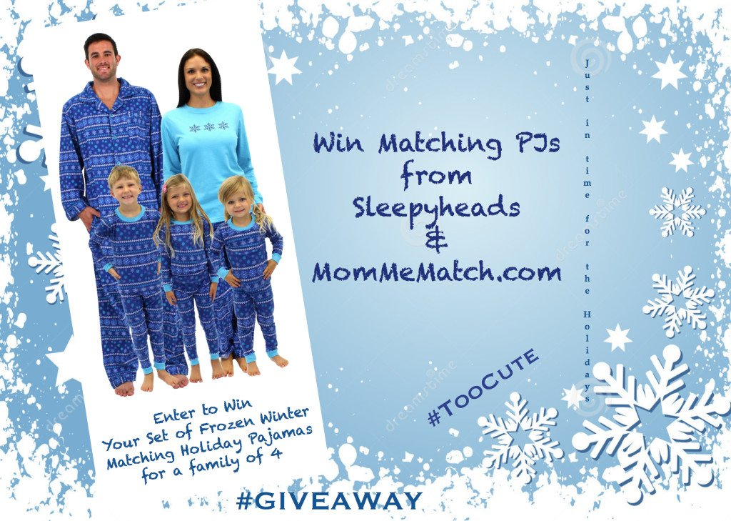 Matching Family Frozen Winter Holiday Pajamas Giveaway