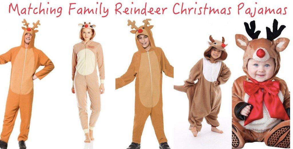 Matching Family Reindeer Christmas Pajamas