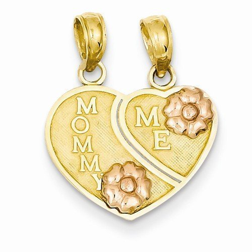 Mommy and Me Heart Pendant, One-of-a-Kind Mommy and Me Christmas Presents