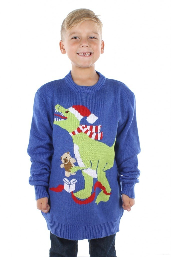 boys t-rex sweater