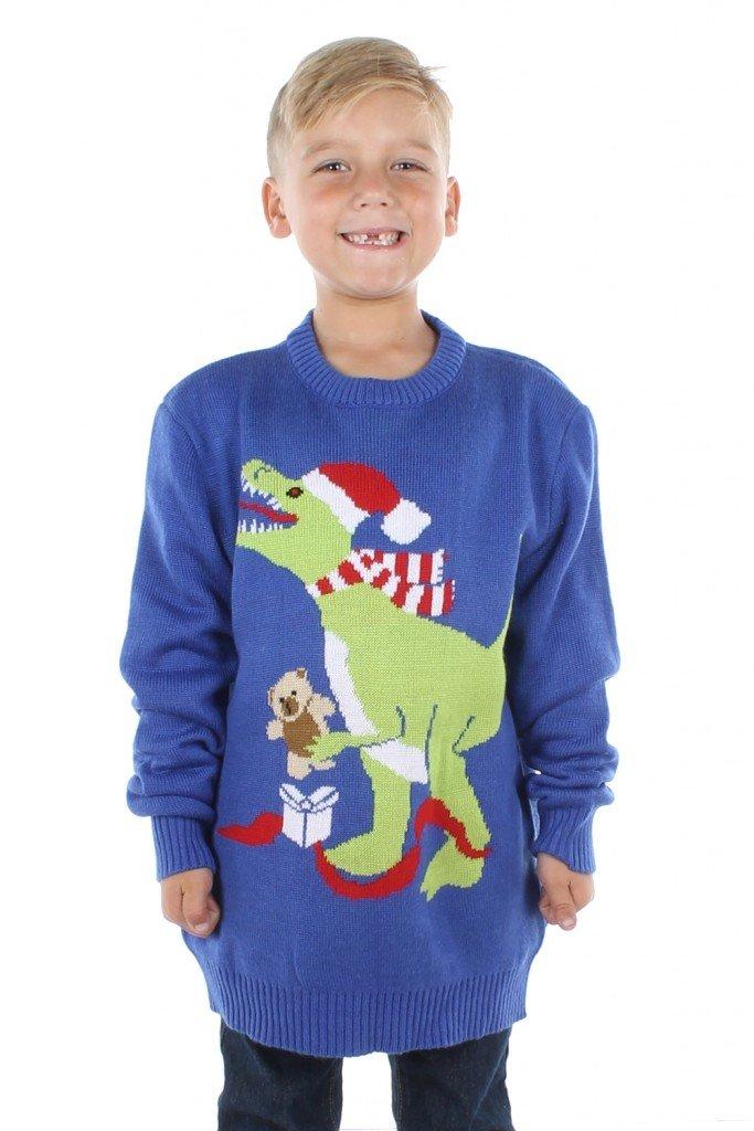 boys t-rex sweater