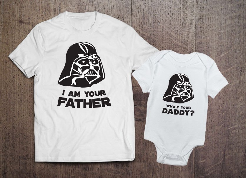 Darth Vader Father and Baby Matching Sets, matching Star Wars outfits