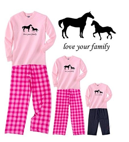 Horses Love Your Family Mother Daughter Pink Outfit