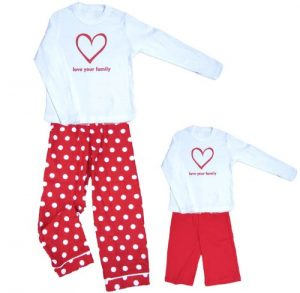 Love Your Family Sweetheart Clothing Set