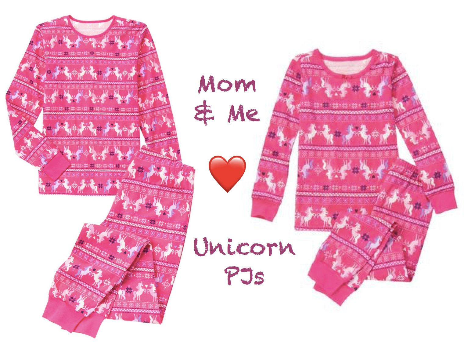 Mom and Me Love Unicorn PJs