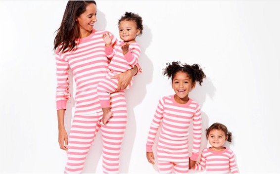 Pink Strip Organic Cotton Family Matching Pajamas