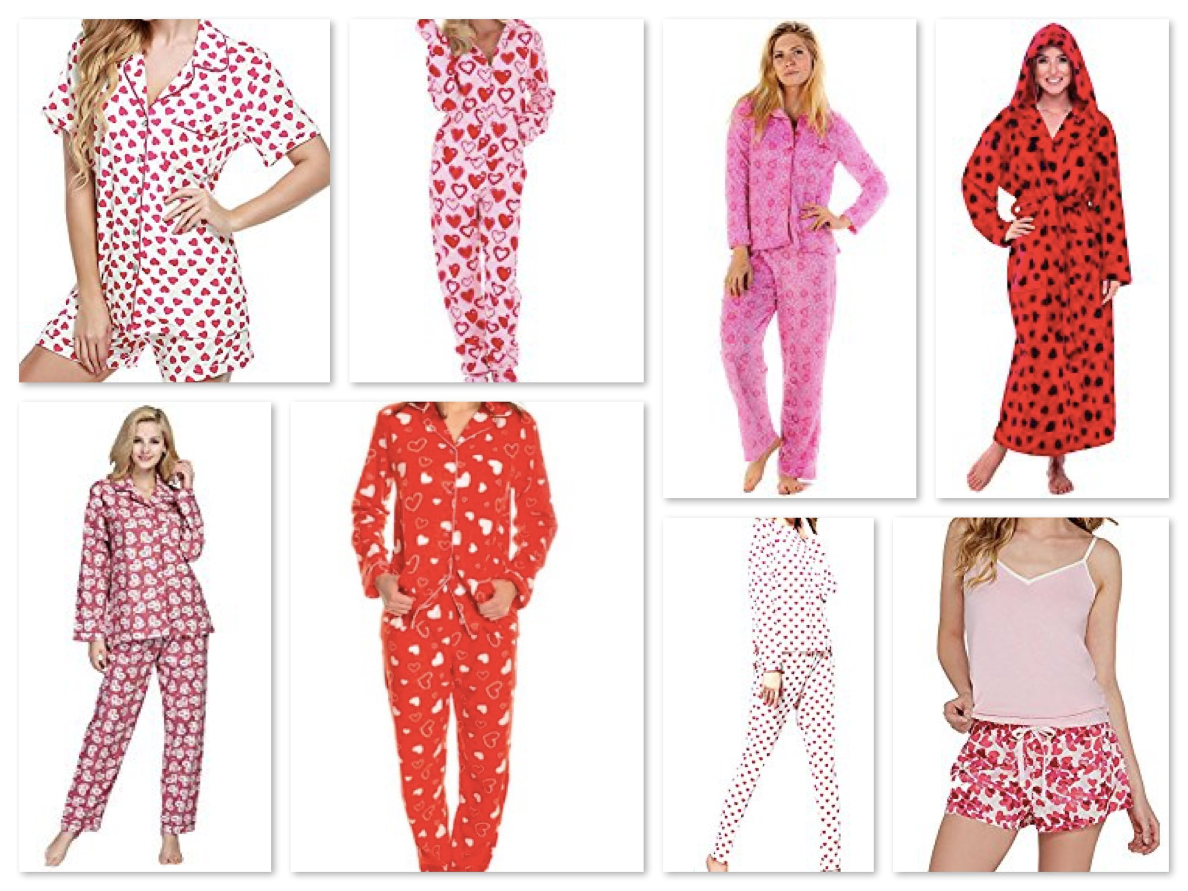 Womens Heart Pajamas for Valentines Day