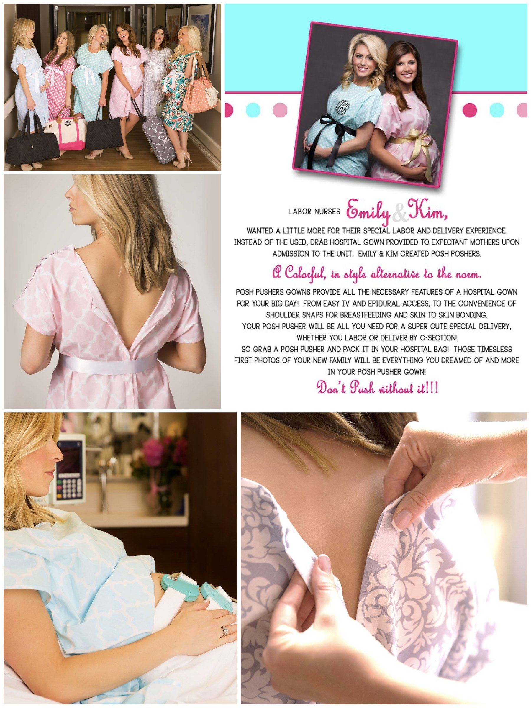 Pretty Labor and Delivery Hospital Gowns