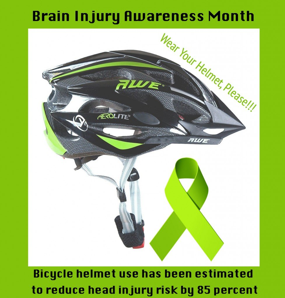 Bicycle Helmet Safety Brain Injury Awareness Month
