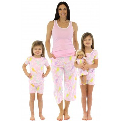 SleepytimePjs-Pink-Sunny-Bird-Mother-Daughter-Matching-Pajamas