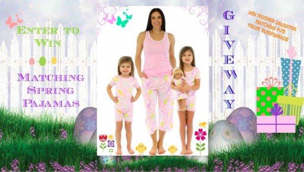 Spring Giveaway Mother Daughter Matching Pajamas