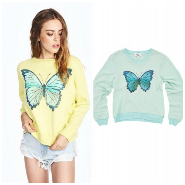 Wildfox Couture Matching Mother Daughter Butterfly Tops