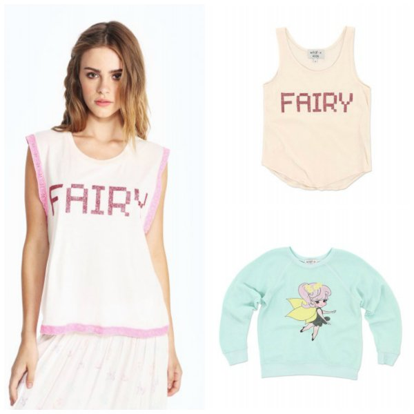 Wildfox Couture Matching Mother Daughter Fairy Tops