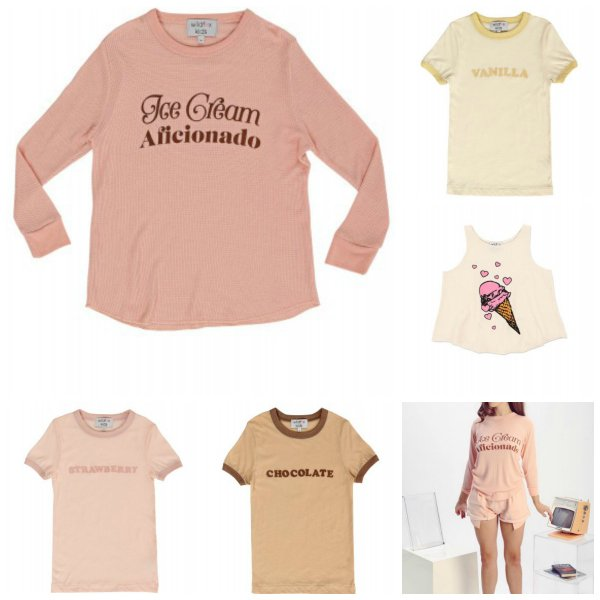 Wildfox Couture Matching Mother Daughter Ice Cream Tops