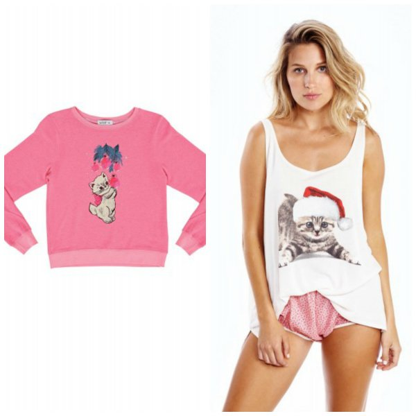 Wildfox Couture Matching Mother Daughter Kitty Cat Tops