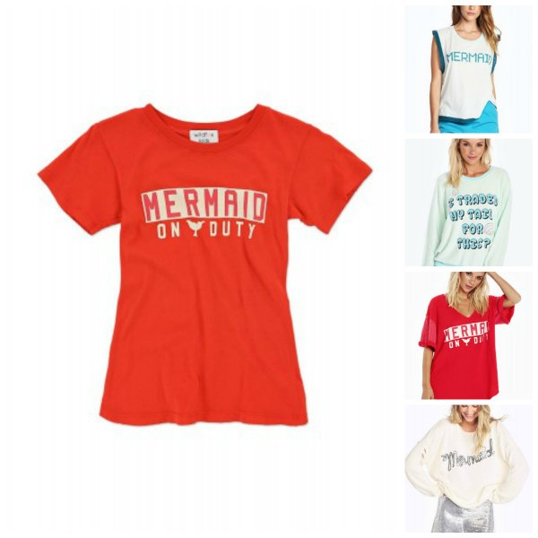 Wildfox Couture Matching Mother Daughter Mermaid Tops