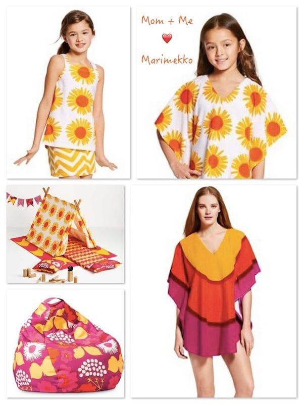 Mom + Me Wear Matching Marimekko Warm Colors to Play