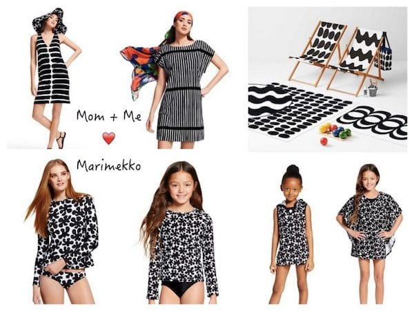 Mommy + Me Wear Matching Black & White Marimekko to the Beach