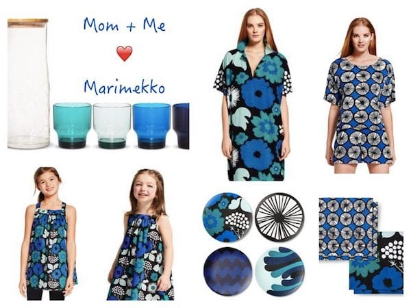 Mommy + Me Wear Matching Blue, Black & White Marimekko at Home