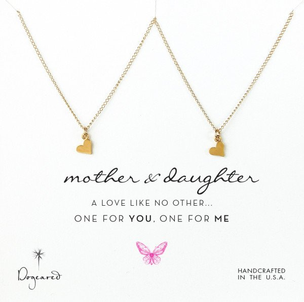Mother Daughter Matching Dogeared Heart Necklaces