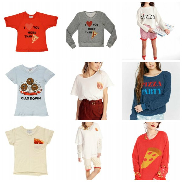 Wildfox Couture Matching Mother Daughter Pizza Tops