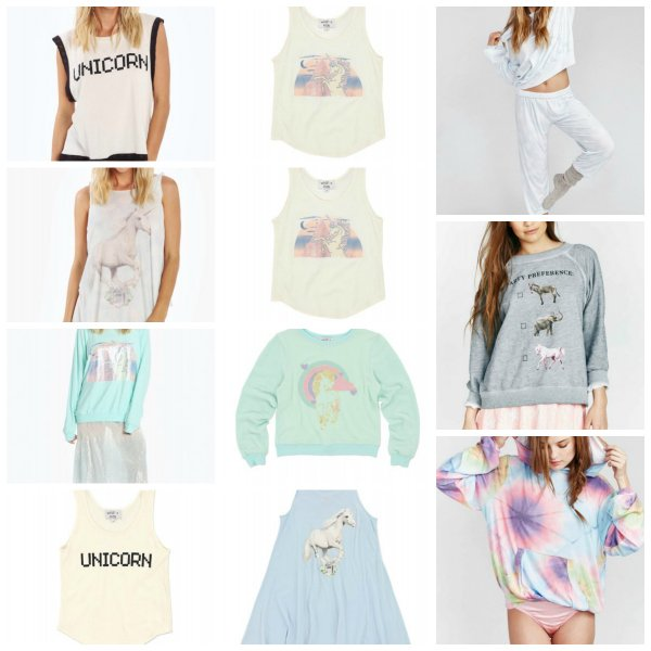 Wildfox Couture Matching Mother Daughter Unicorn Tops