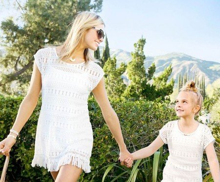 Stella and Dot Mother Daughter Matching Tunics