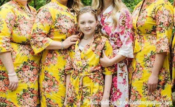 Matching Bridesmaid Flower Girl Robes