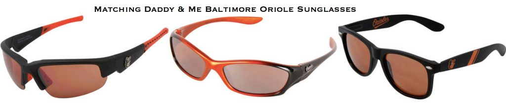 Matching Daddy & Me Baltimore Oriole Sunglasses, , Sports fan gear