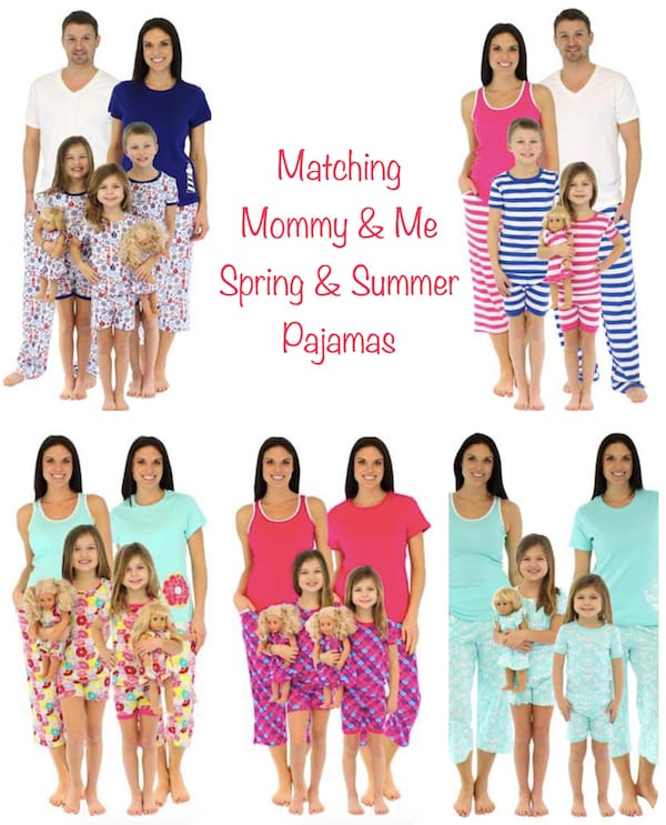 Matching Mommy and Me Spring & Summer Pajamas