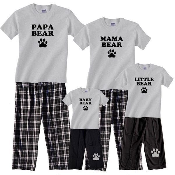 Bear Family Matching Pajamas