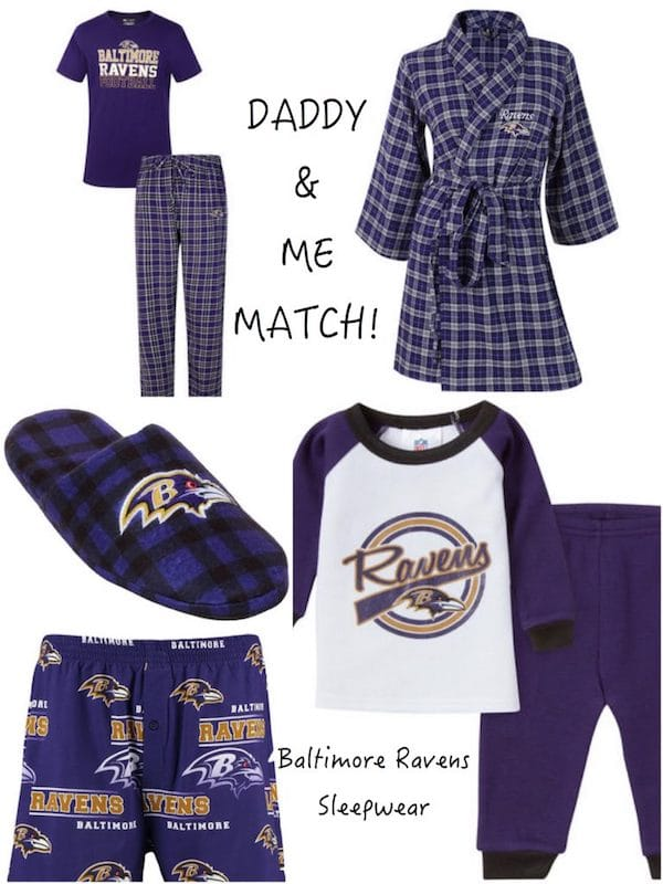 Daddy & Me Matching Baltimore Ravens Pajamas