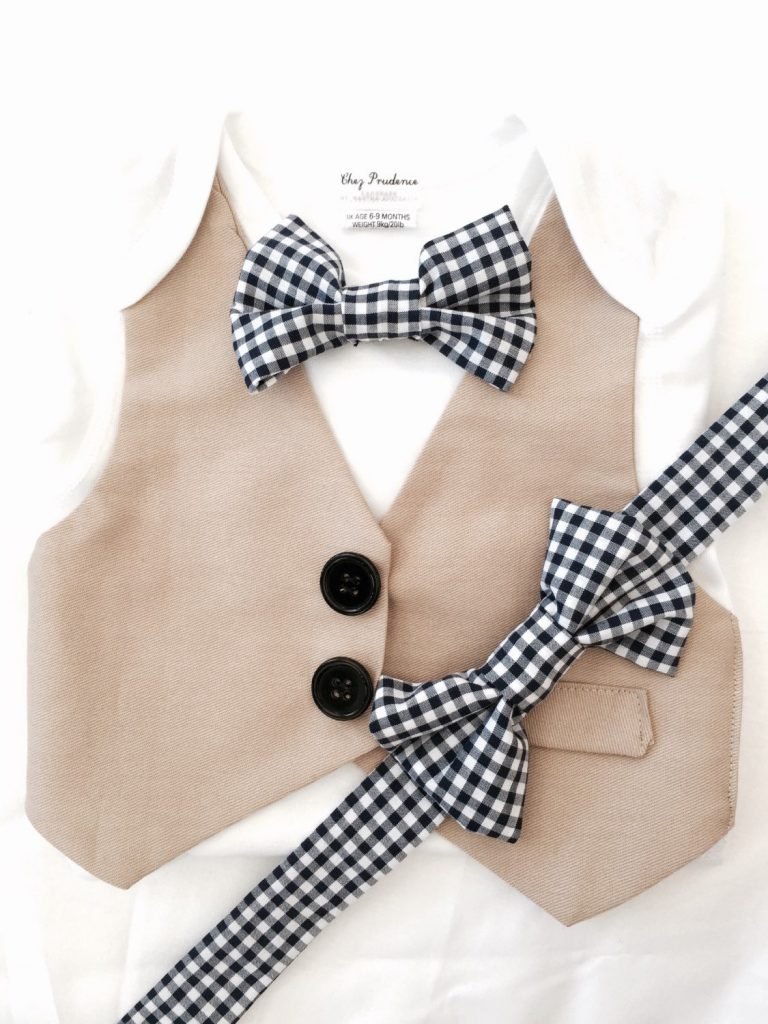 Father Son Matching Checked Bow Tie Set
