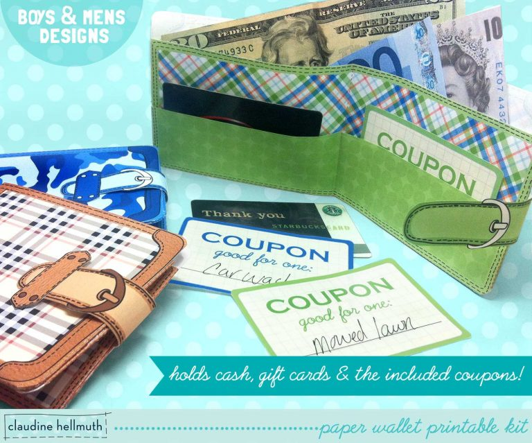 Fathers Day Printable Paper Wallets-with Chore Coupons