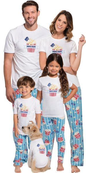 Movie Night Family Matching Pajamas