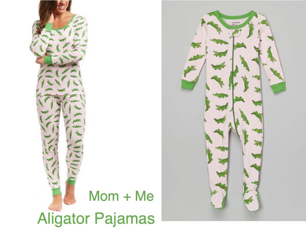 Mom& Me Matching Alligator Pajamas