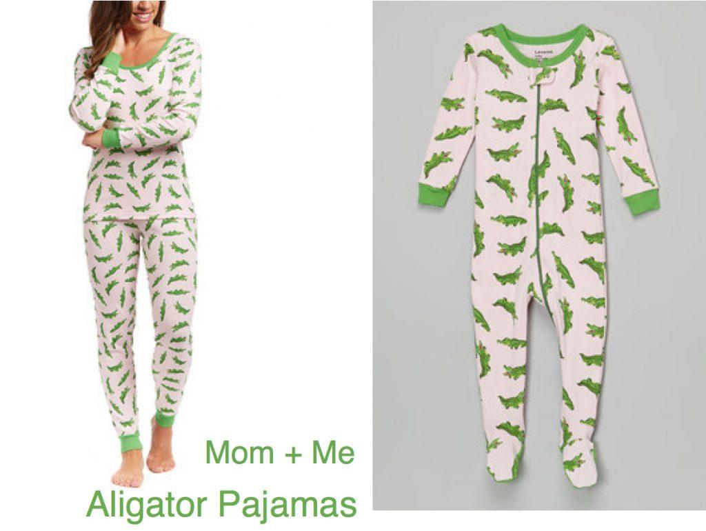 Mom& Me Matching Alligator Pajamas