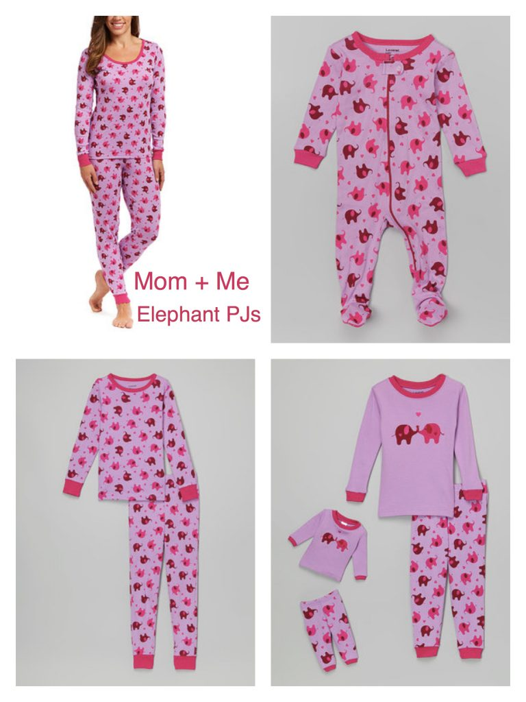Mom+ Me Matching Elephant Pajamas