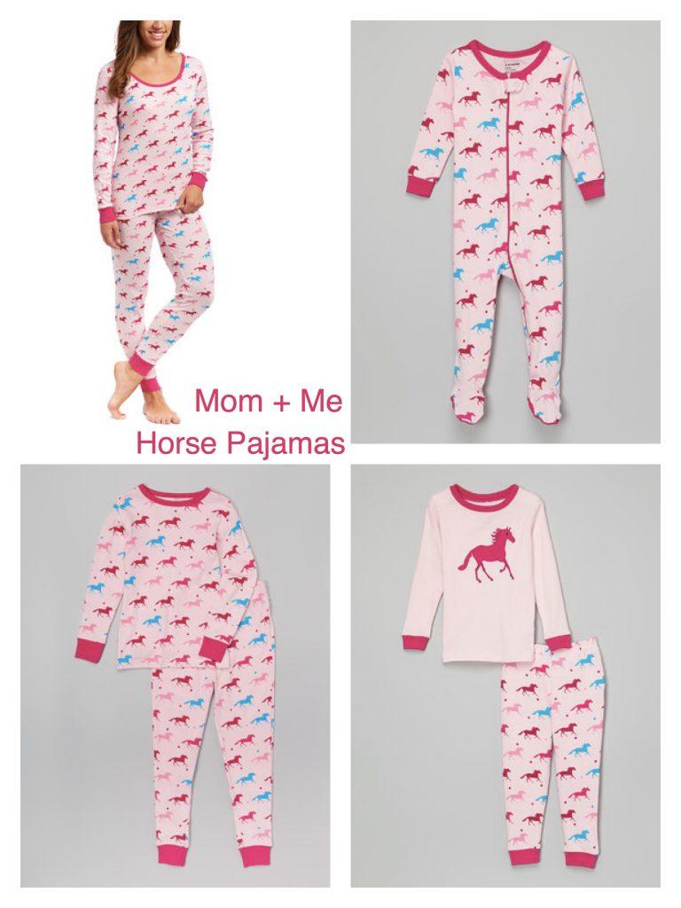 Mom + Me Matching Horse Pajamas