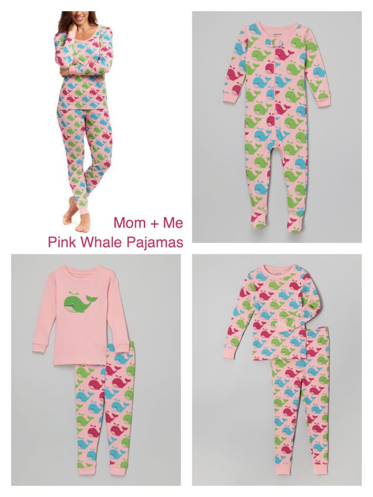 Mom + Me Matching Pink Whale Pajamas