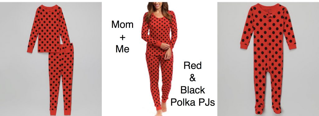 Mom+ Me Matching Red & Black Polka Dot Pajamas