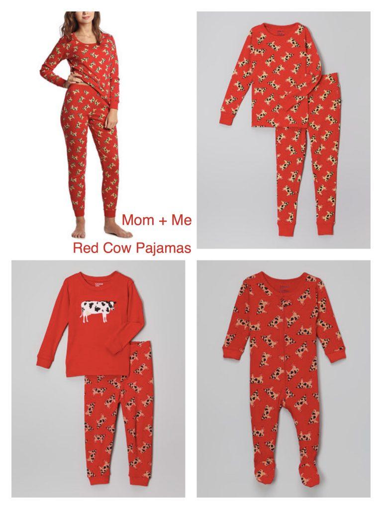 Mom+ Me Matching Red Cow Pajamas