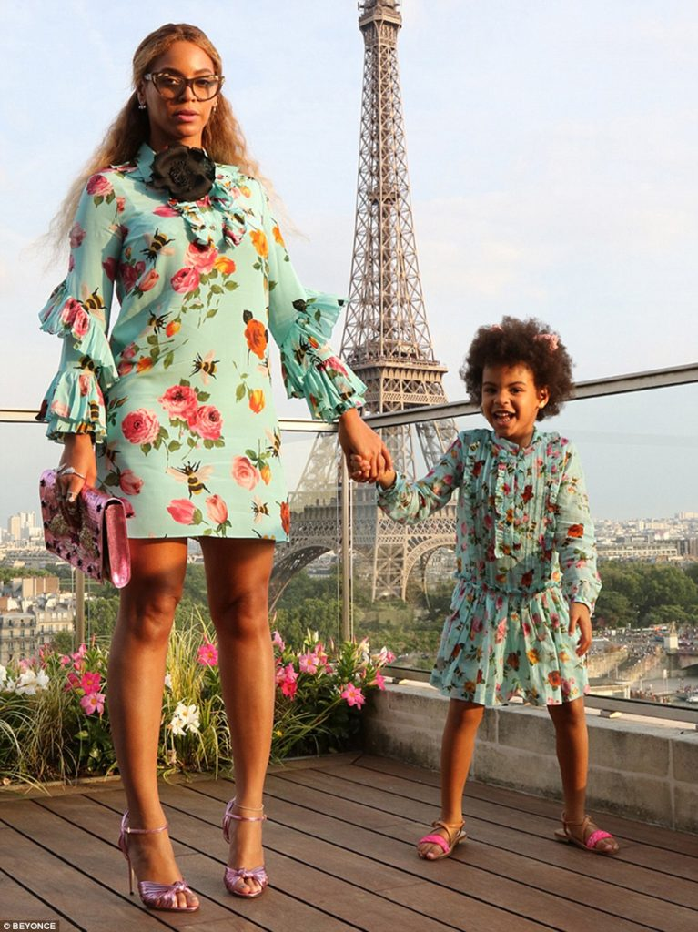 Beyonce & Blue Ivy Wear Matching Gucci Dresses in Paris