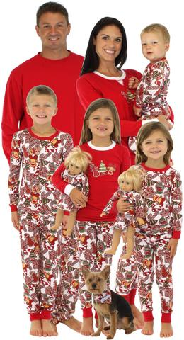 Family Matching Holiday Gingerbread Knit Pajamas