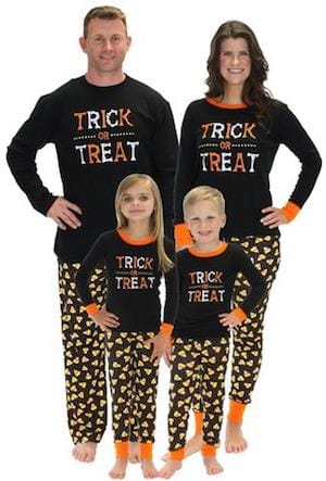 Family Matching Trick or Treat Candy Corn Halloween Pajamas