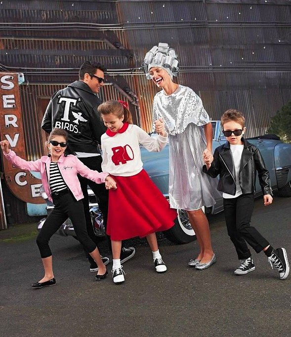 Family Matching Grease Costumes