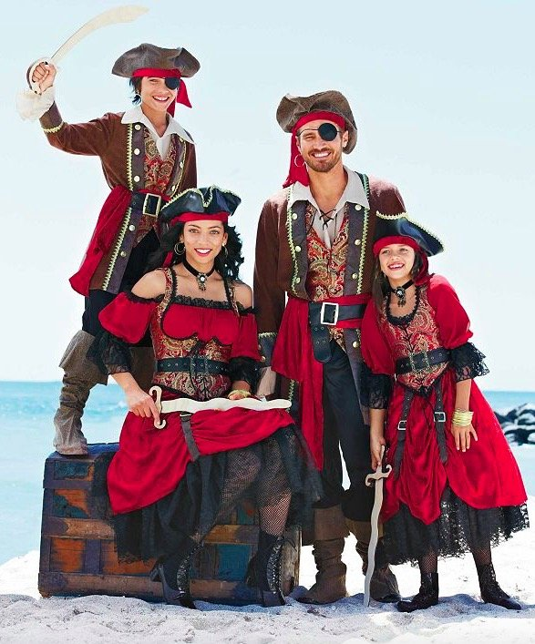 Family Matching Swashbuckling Pirate Costumes