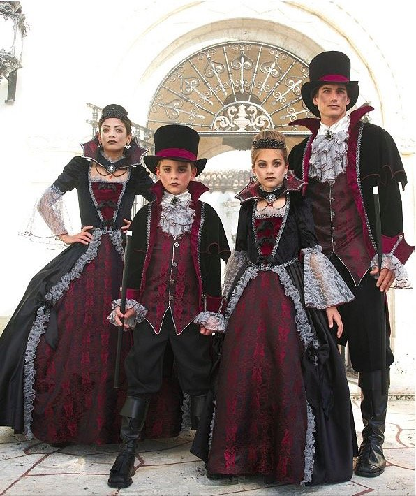 Family Matching Vampires of Versailles Costumes
