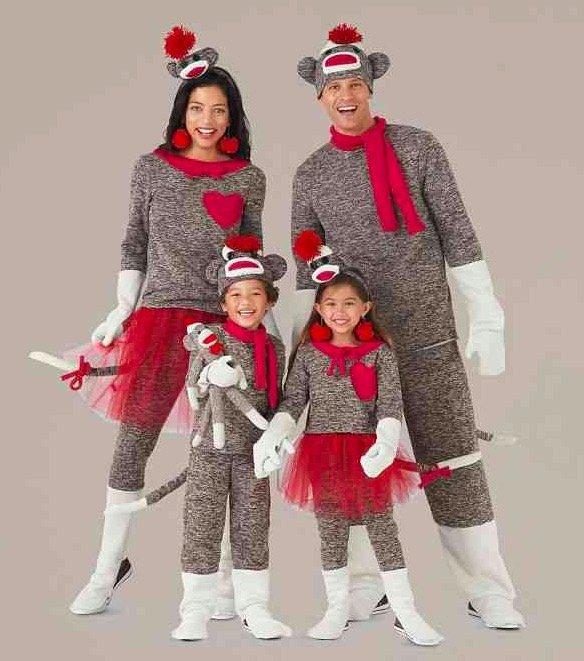 Matching Family Sock Monkey Costume